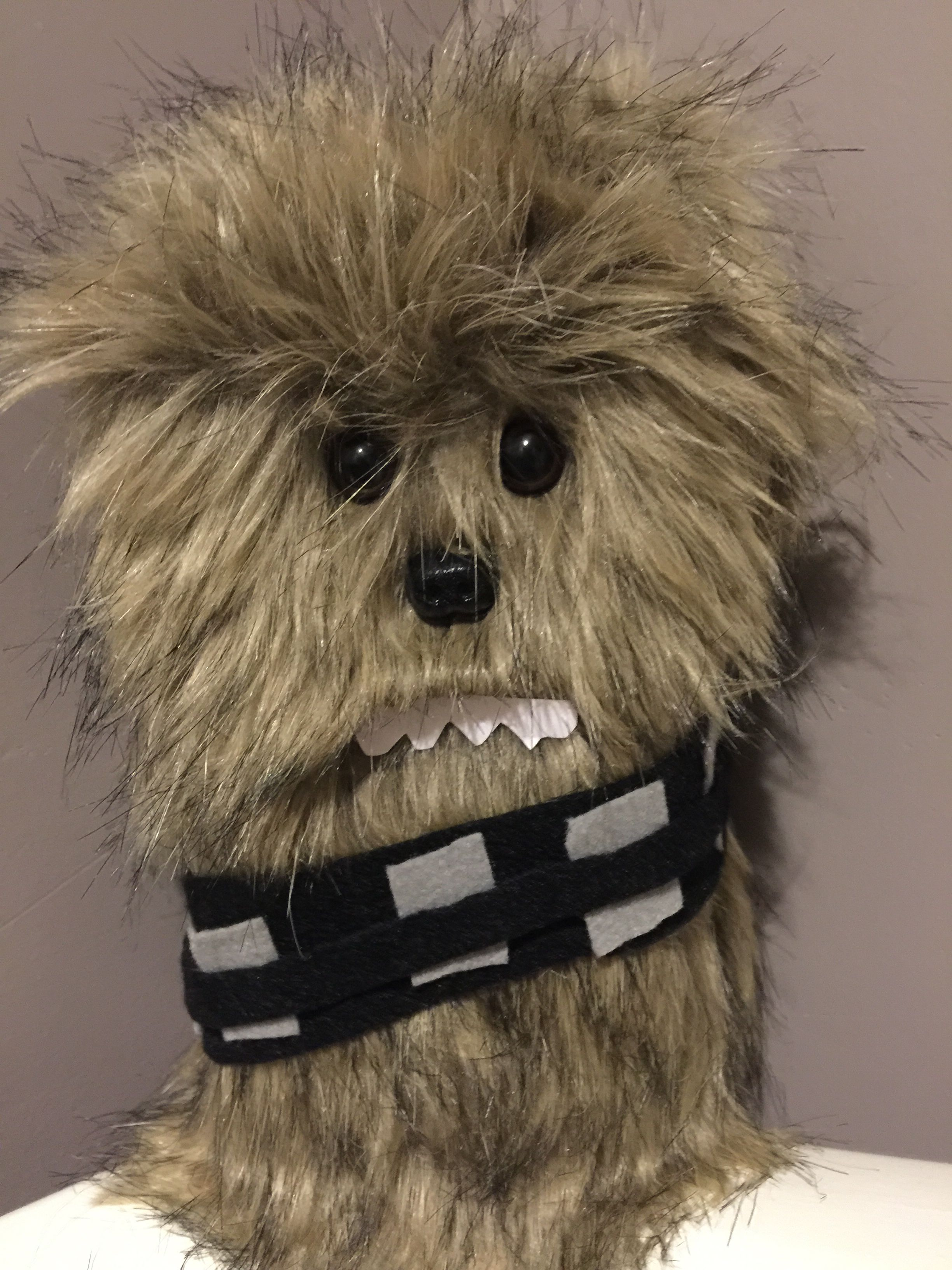 Chewbacca Valentine Box Made From A Milk Carton, Faux Fur Material, Felt  And Accessories