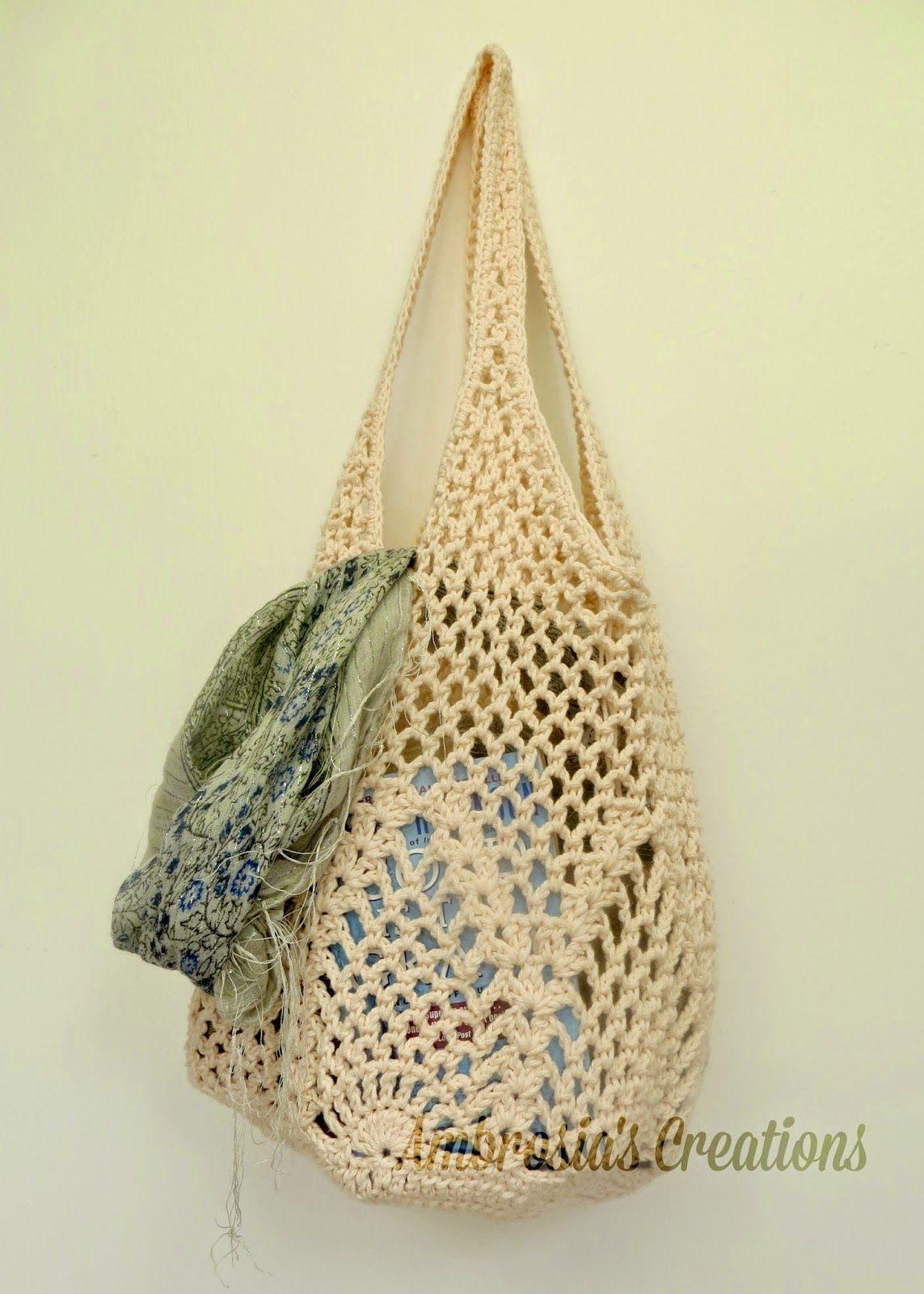 Ambrosias Creations Pattern Pineapple Crochet Market Bag Chart