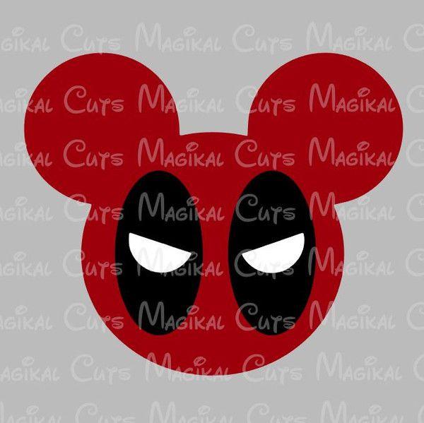 Deadpool Mouse Ears SVG, Studio, EPS, and JPEG Digital Downloads – Magikal Cuts