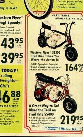 Western Auto Minibikes Hooked On Minibikes Mini Bike Bike
