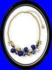 NWT Betsey Johnson Polka Dot Blue Cluster Necklace MSRP $68.00 - $68.00, Betsey, blue, Cluster, Johnson, MSRP, Necklace, Polka - http://designerjewelrygalleria.com/betsey-johnson/betsey-johnson-necklaces/nwt-betsey-johnson-polka-dot-blue-cluster-necklace-msrp-68-00/