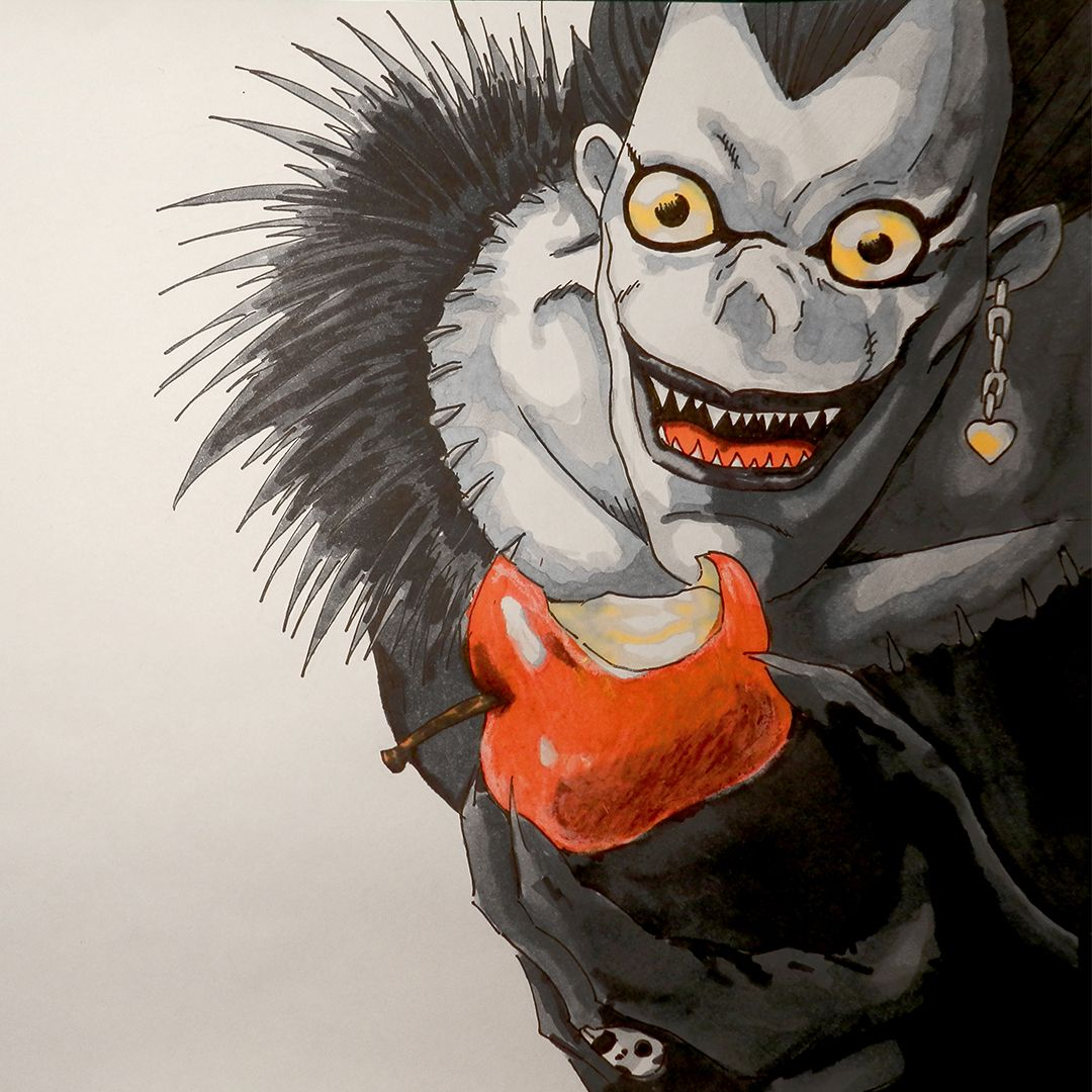 draw drawing ryuk death note shinigami par by thomas rayer | Drawings | Dessins | Dibujos ...
