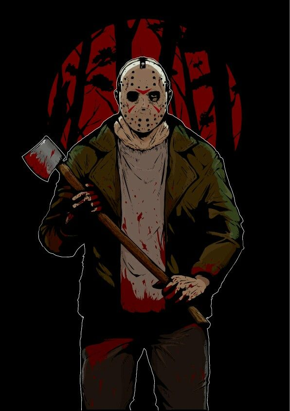 Friday the 13th, Jason Voorhees, Horror Characters, Horror Movies, Pixiv (Credits for the Artist)