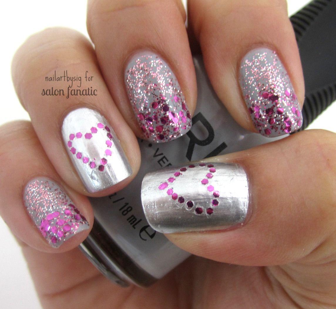 Mani Monday: Glitter Ombre Valentine's Day Nails | Salon Fanatic