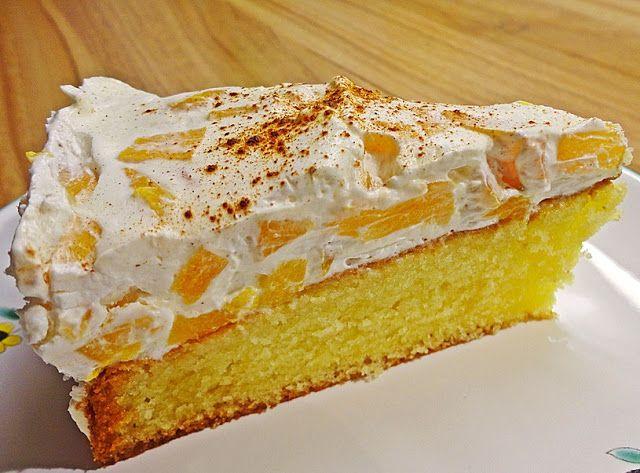 Fantakuchen mit Pfirsich Schmand | Kuchen mit pfirsich
