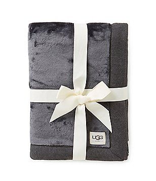 Ugg Throw Blanket Ugg® Duffield Jerseytrimmed Plush Throw  Blankets To Bundle Up In