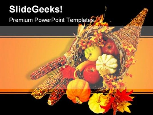 Happy Thanksgiving Religion PowerPoint Template 0610 #PowerPoint
