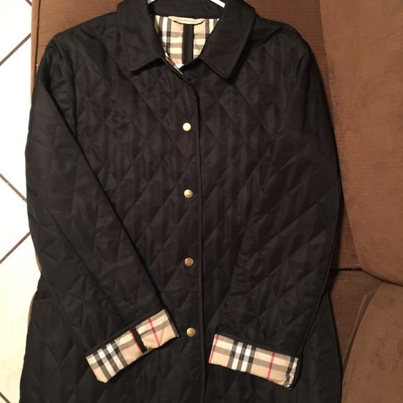 Trade Burberry London Black And Red Quilted Jacket Black Quilted Jacket Quilted Jacket Burberry London