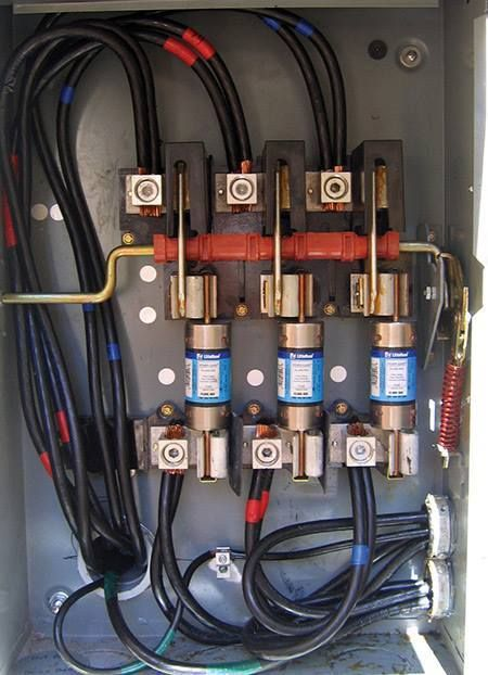 A Fused 3 Phase Safety Switch Serves As The Pv Service
