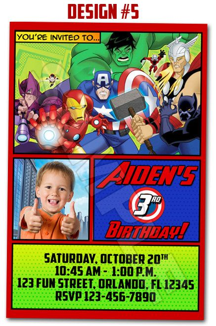 Avengers Superheroes Assemble Ultron Birthday Party Photo ...