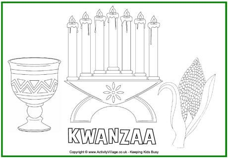 Kwanzaa colouring page | Being a teacher | Pinterest | Kwanzaa and ...