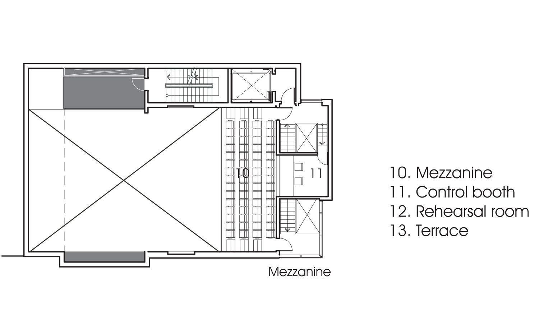 Theatre De Quat Sous Fabg Theatre Architecture Ground Floor Plan Rehearsal Room