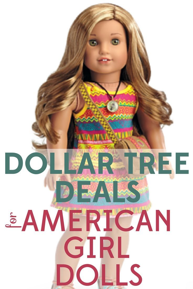 Dollar Tree Deals for American Girl Dolls #americangirldollcrafts