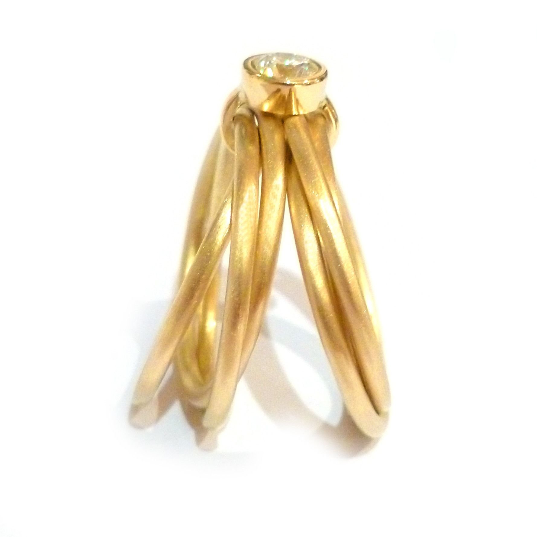 Stunning k Gold band Russian style ring rd