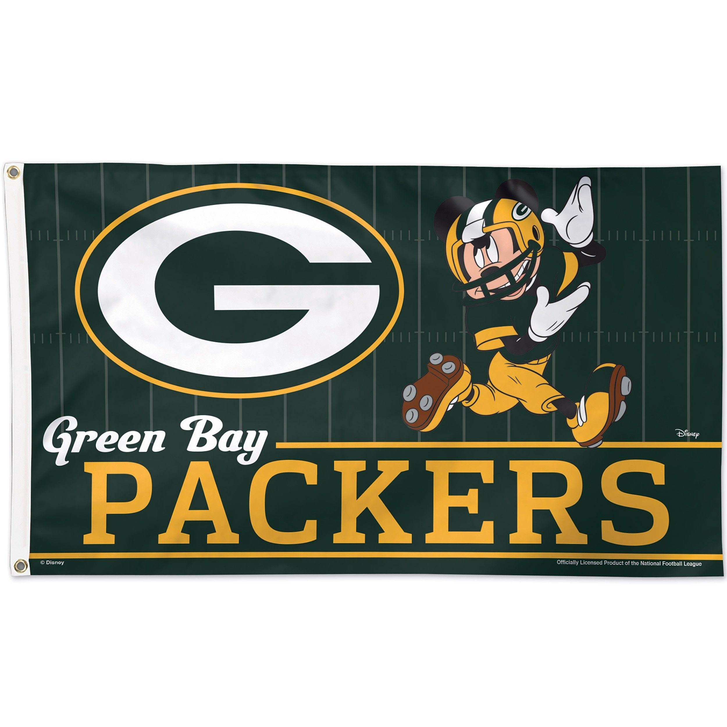 Packers Mickey Mouse 3 X 5 Flag Green Bay Packers Logo Green Bay Green Bay Packers
