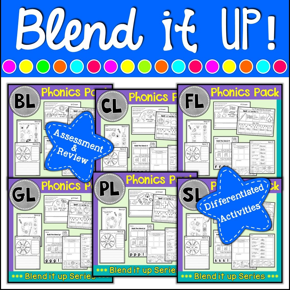 Phonics L Blends Phonics Mega Pack