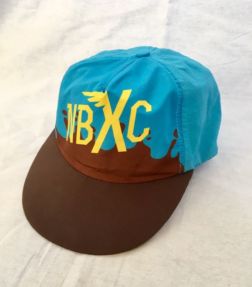 c84280ad2a483 NEW BALANCE NBXC Cross Country ATHLETIC HAT RUNNING ADJUSTABLE 5 PANEL Blue