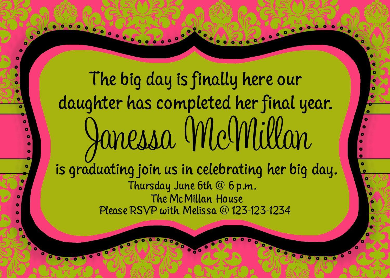 make your own college graduation invitations