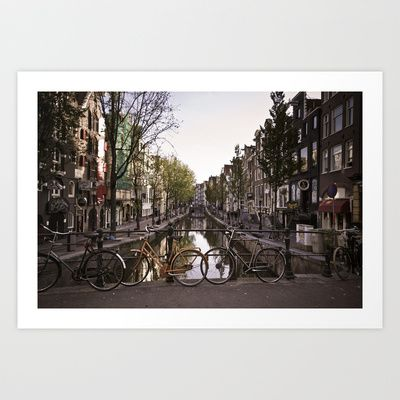 Early Morning, Amsterdam Art Print by Cameron Booth - $19.00 Gallery Wall