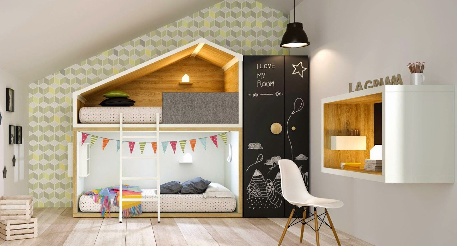 Infantiles poco espacio elegant habitacion ideas para for Muebles poco espacio