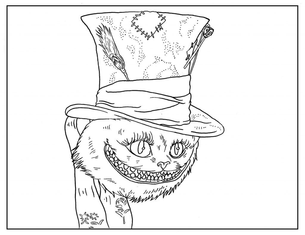 Free Printable Halloween Coloring Pages For Adults Alice Adult Coloring Book Pages Adult Coloring Pages Coloring Book Pages