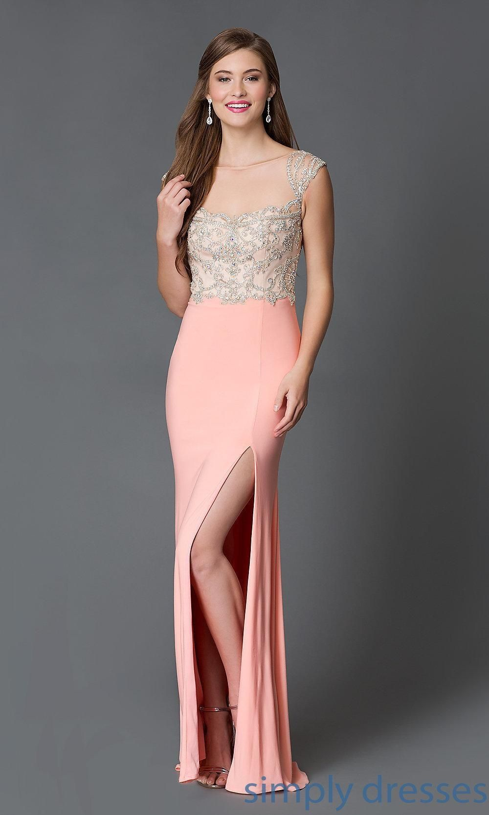 Floor Length Illusion Neckline Formal Gown XT-32639 by Xtreme ...
