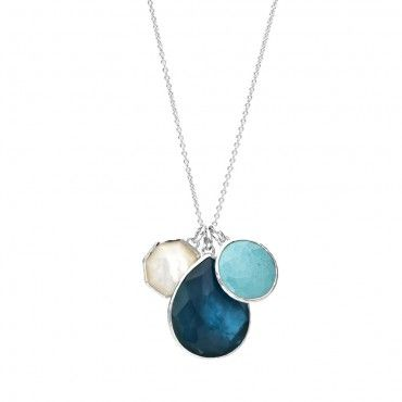 Ippolita | Sterling Silver Wonderland 3-stone Pendant Necklace in Paradise - Wonderland Paradise - Insiders