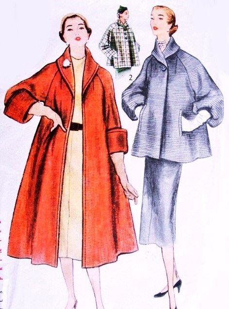 Swing Coat Sewing Pattern UNCUT New Look 6938 Sizes 8-18 | Swing ...