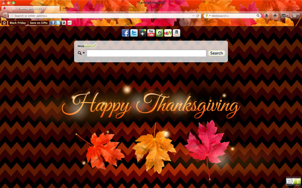 Official Thanksgiving Browser Theme For Chrome Firefox Internet Explorer And Safari Browsers