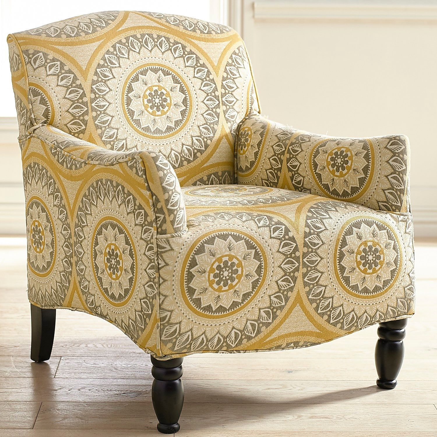 Frankie Gold Suzani Armchair Paint Accent Chairs Living