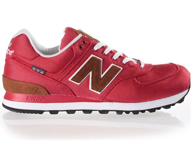 New Balance 574 Shoe Red   The Style Dealer