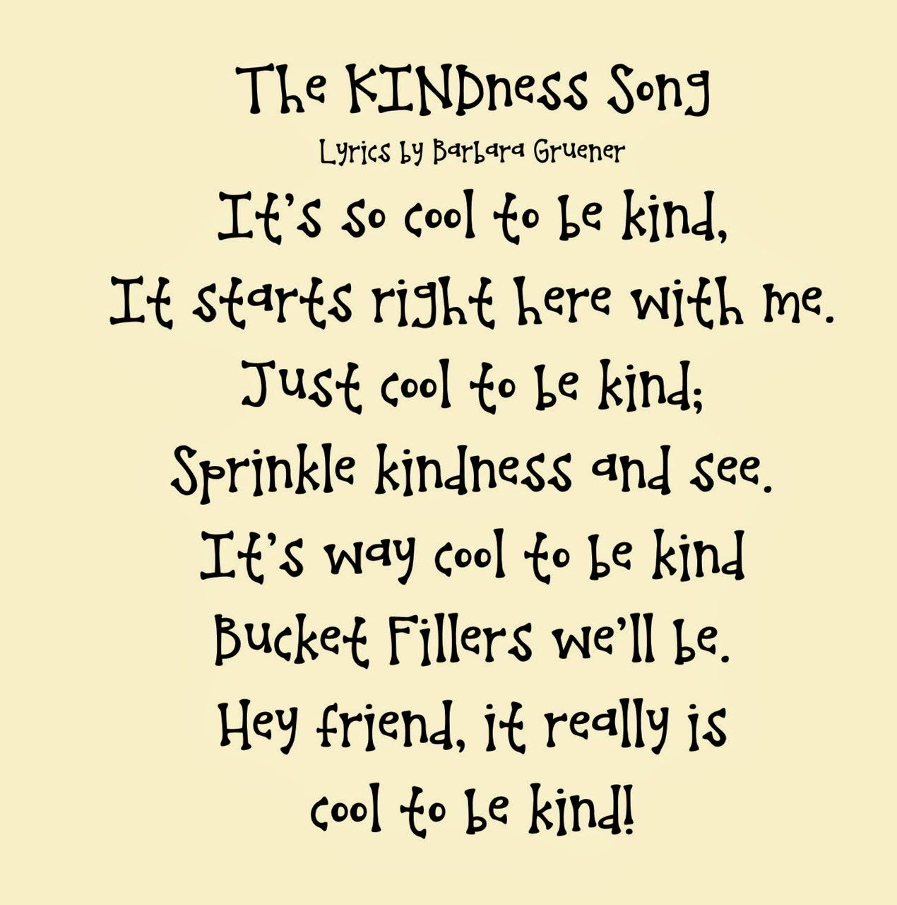 Poems about kindness for children 39