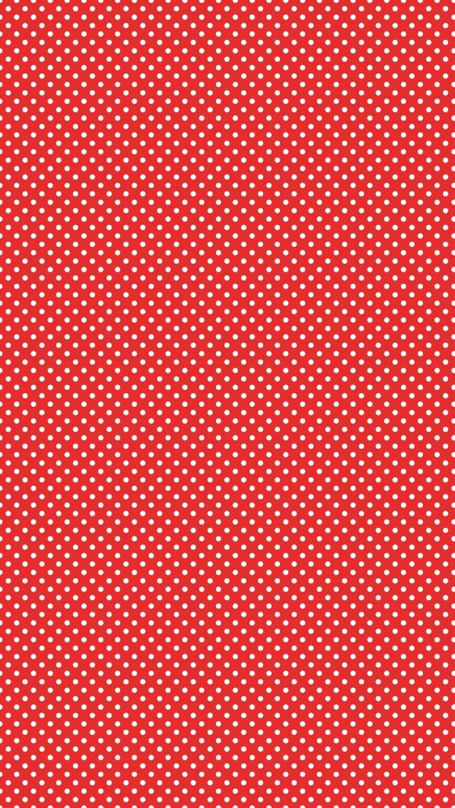 White Dots Polka Pattern IPhone 5 Wallpaper Red Iphone Shelves