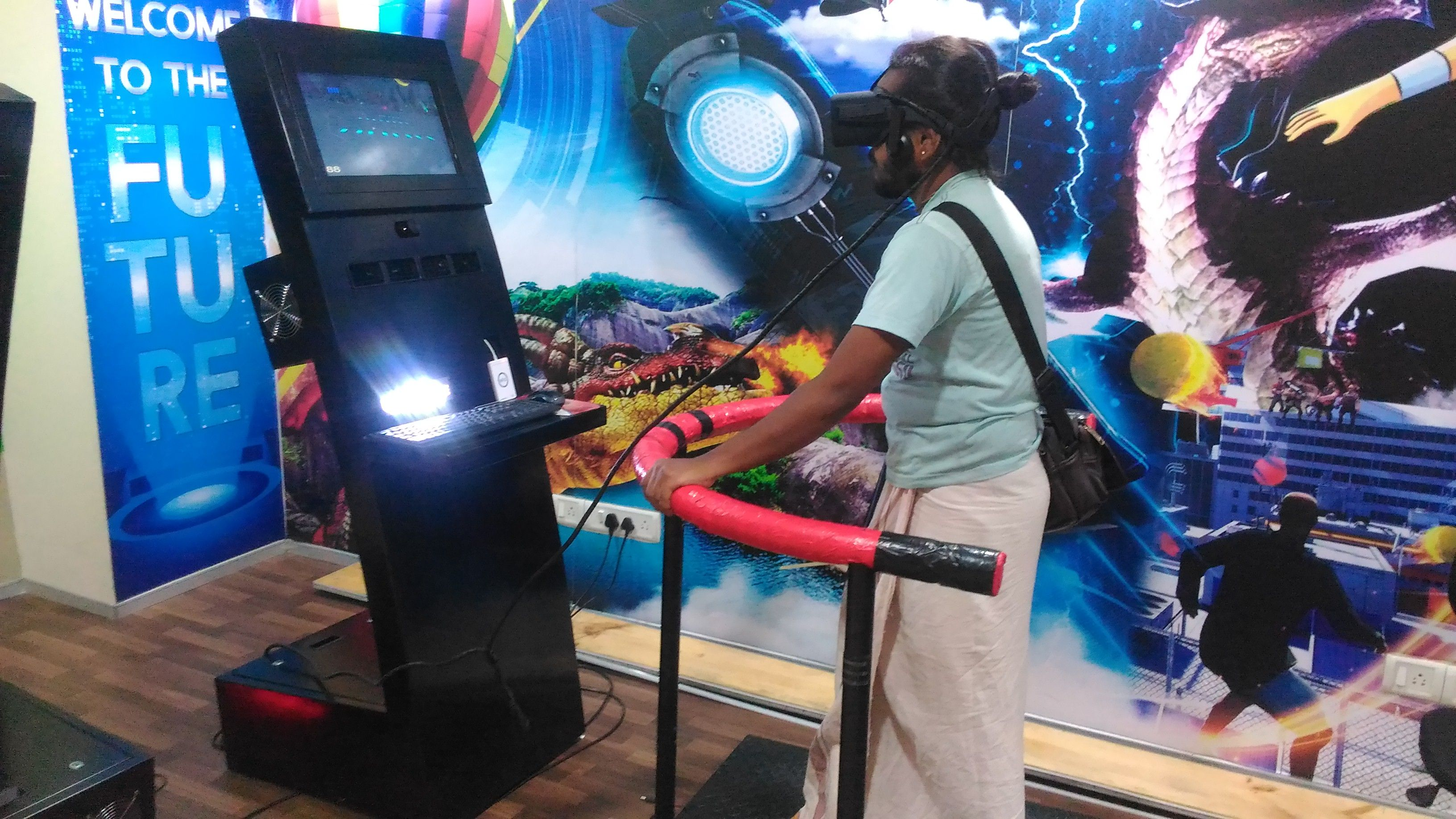 Our regular visitor Sriram just can't get enough of our VR