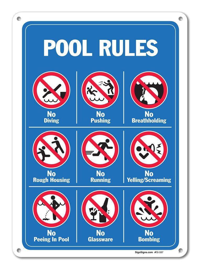 Ask Us Anything – Water Safety   The PediaBlog   Pool signs ...