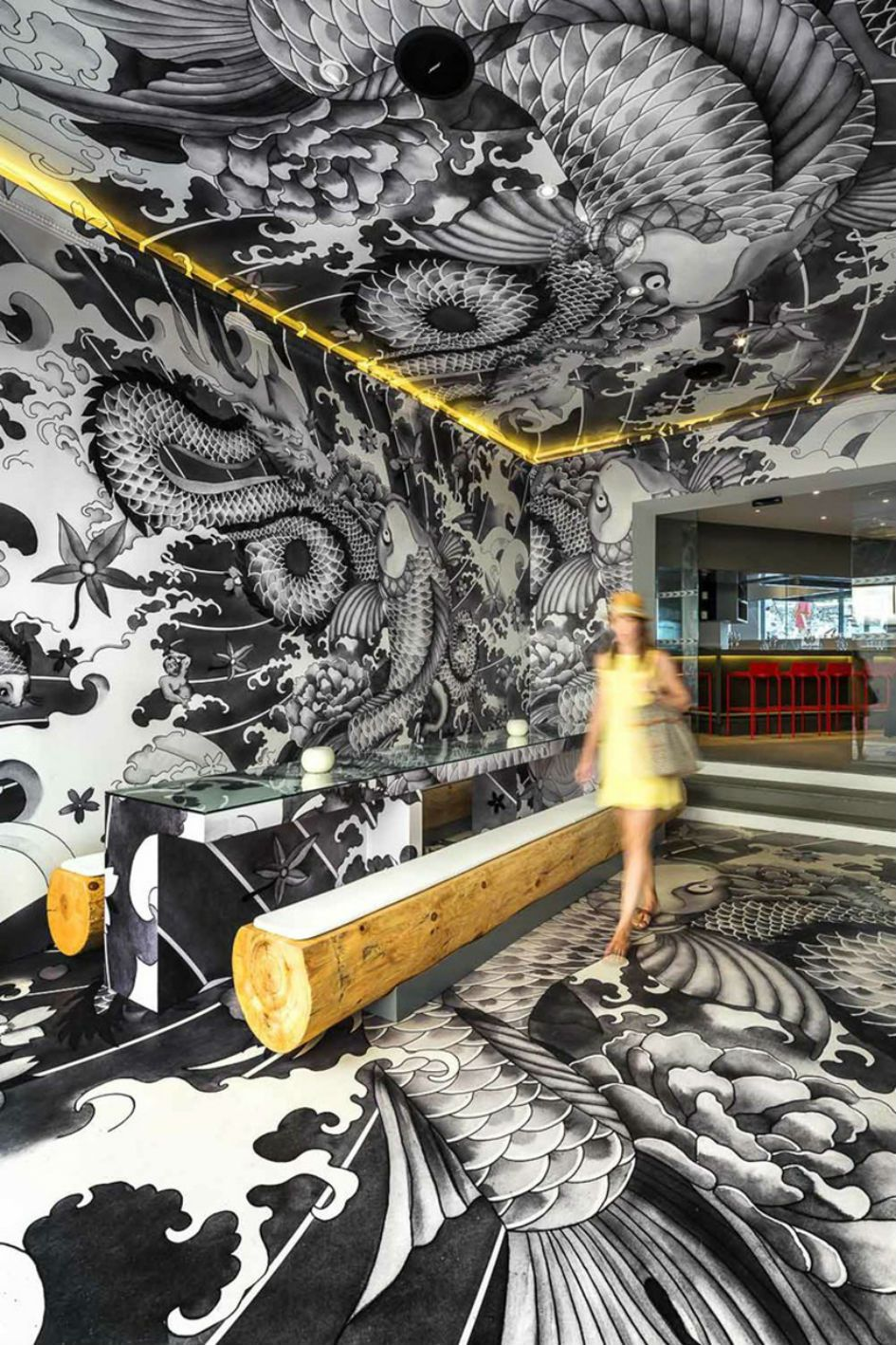Vincent Coste Designs Japanese Restaurant With Tattoos