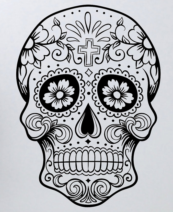 - Pin By BobberBrad On [-- SKULLS --] Skull Coloring Pages, Skull, Sugar  Skull Art