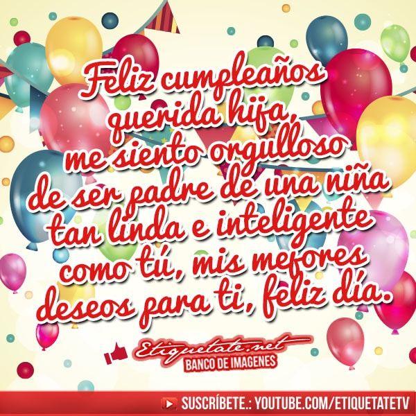 imagenes de feliz cumpleaños hija mia jpg (600 u00d7600) Feliz Cumpleanos Hija Pinterest
