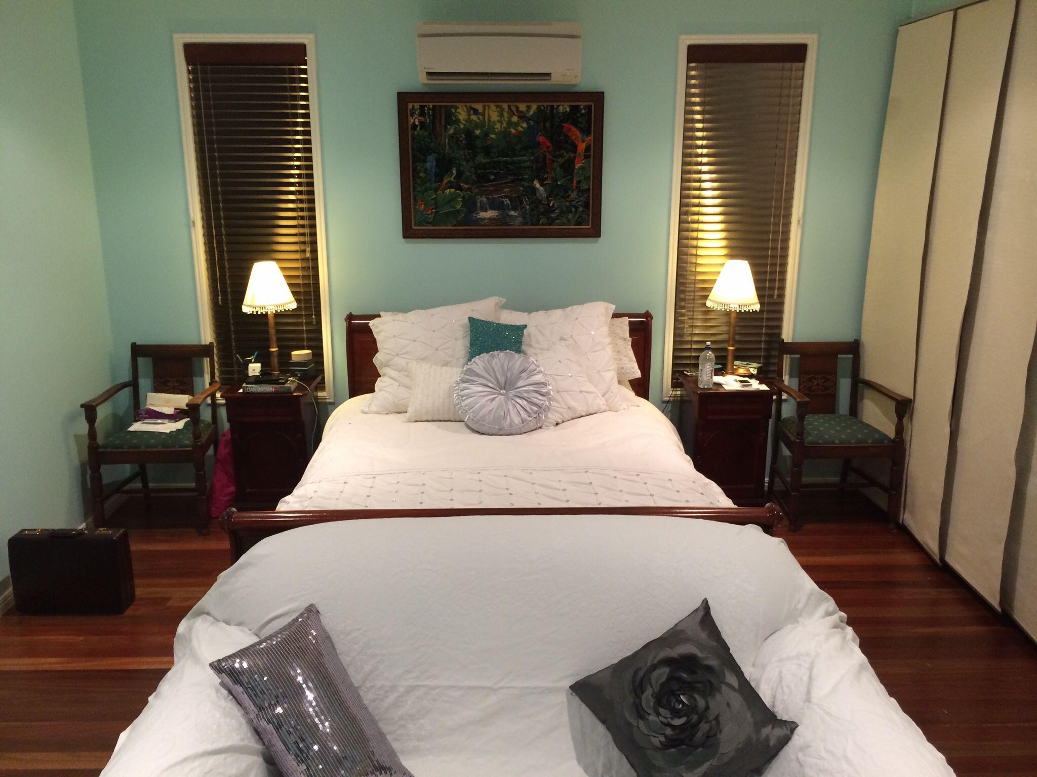 Tiffany blue bedroom Taubman's 'Sky Green' Blue