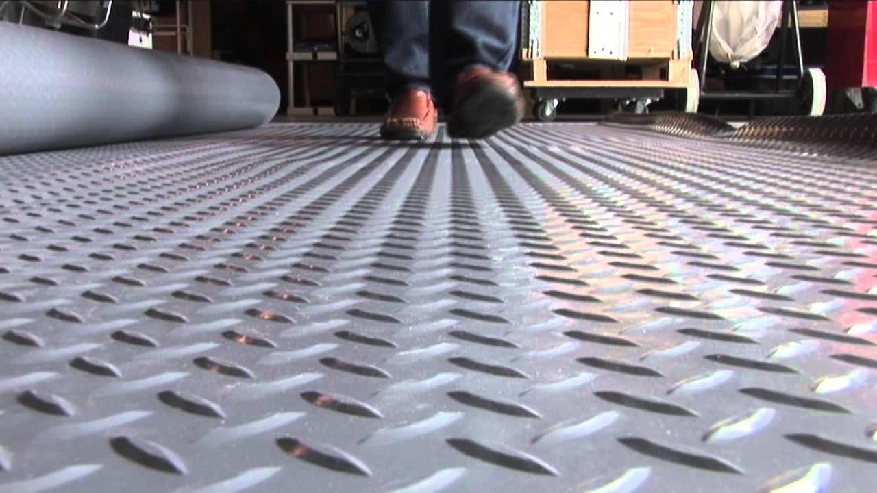 Roll Out Vinyl Garage Flooring Flooring Ideas In 2020 Garage Floor Vinyl Garage Flooring Garage Floor Tiles