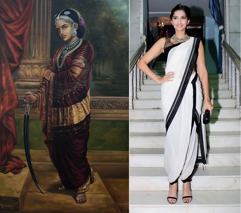 7 Style Makers From History Historical Figures Who Inspired Indian Fashion Rani Lakshmibai Nauvari Saree Historicalfas Fashion Indian Fashion Figure Dress