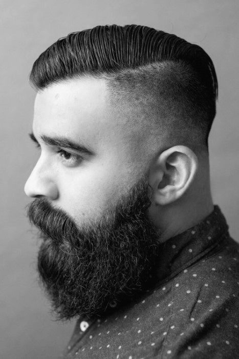 Undercut Mit Bart Haircut Für Männer 40 Manly Frisuren