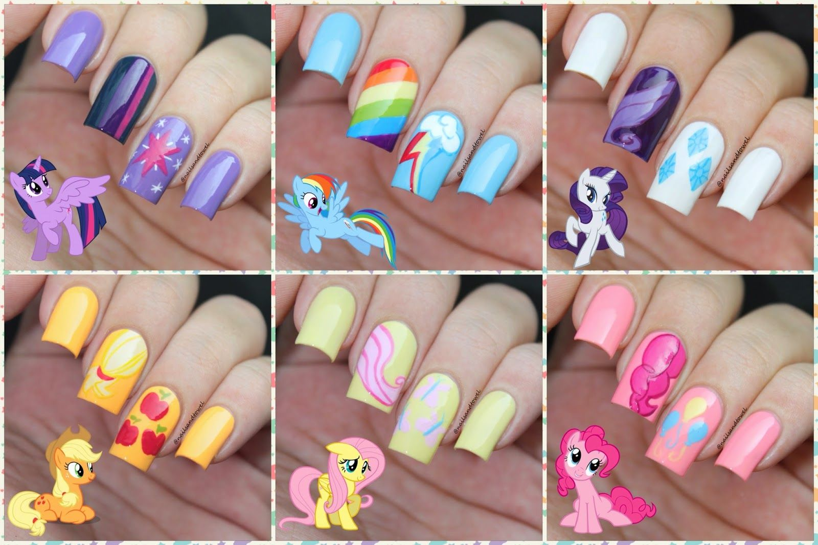 My Nail Art Journal Little Pony Nails Inspired Mon Pe Poney