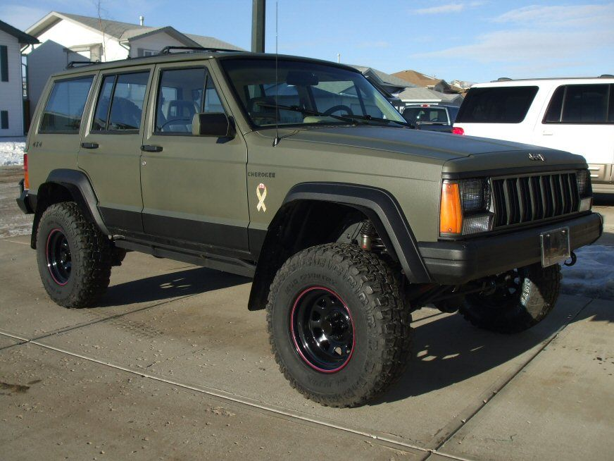 131 1307 1986 Jeep Cherokee Race 2 Recreate further 171461782077 besides Jeep Jk Wrangler additionally Amazing Pin By Ricardo On Jeep Xj For Tie Rod Cherokee Style And Trends as well M715 Jeep Kaiser For Sale. on olive drab jeep cherokee