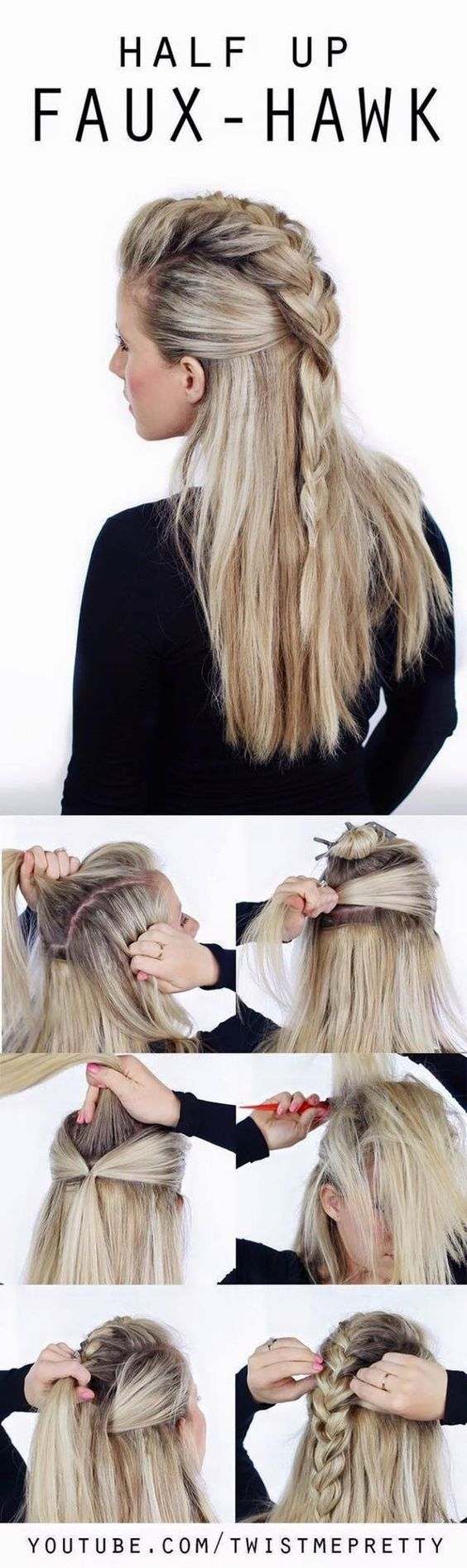 hair tutorials you need to try faux hawk long haircuts and