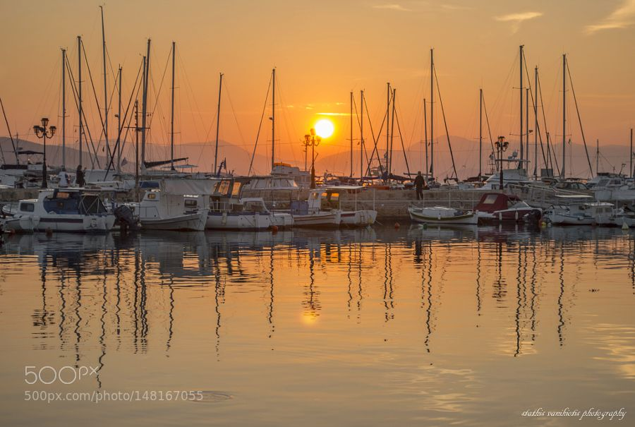 popular on 500px   beautiful sunset in aegina    by stathisvanikiotis