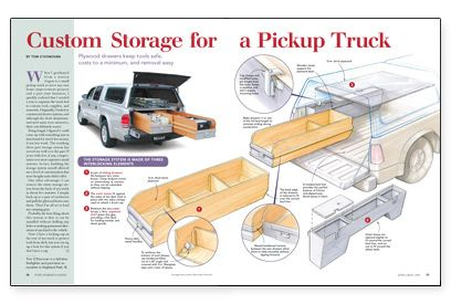 Preview Custom Storage For A Pickup Truck Fine Homebuilding Article