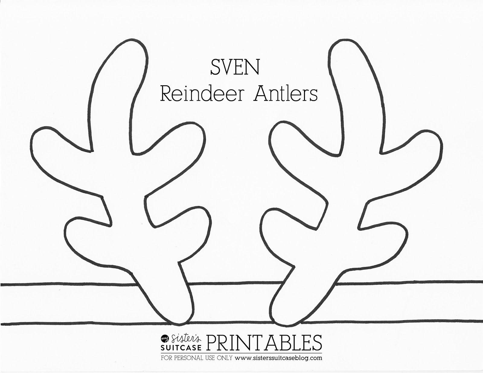 Frozen Elsa Crown Template Sven Antler Template Reindeer Antlers Frozen Crafts Reindeer Printable