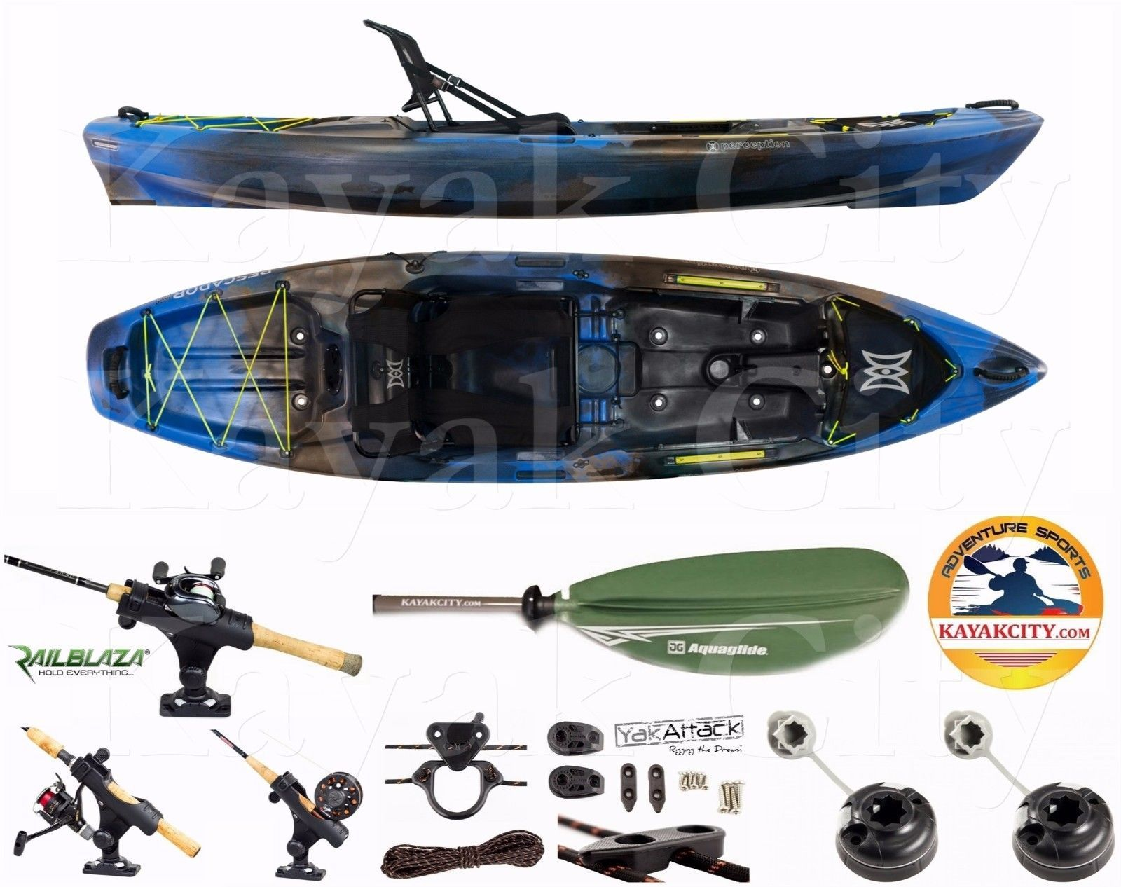 Kayaks 36122 Perception Pescador Pro 10.0 Kayak Sport