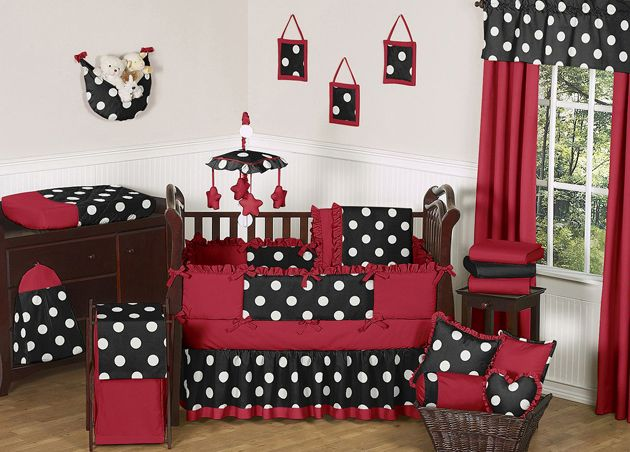 title | Black White And Red Crib Bedding Sets
